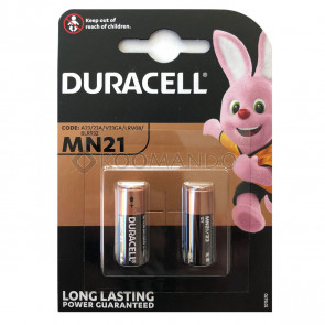 Duracell 12 volt 23a mn21 blister 2 pezzi