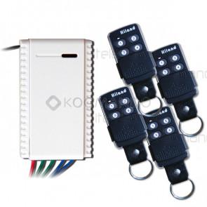 kit ricevitore R5111 con 4 telecomandi t6502